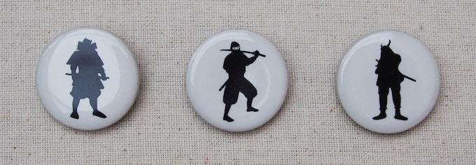 Stretch goal ceramic tile pin badge.  1 inchi round size.
