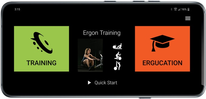 Ergon Training is the ultimate companion app for all three Concept2 machines