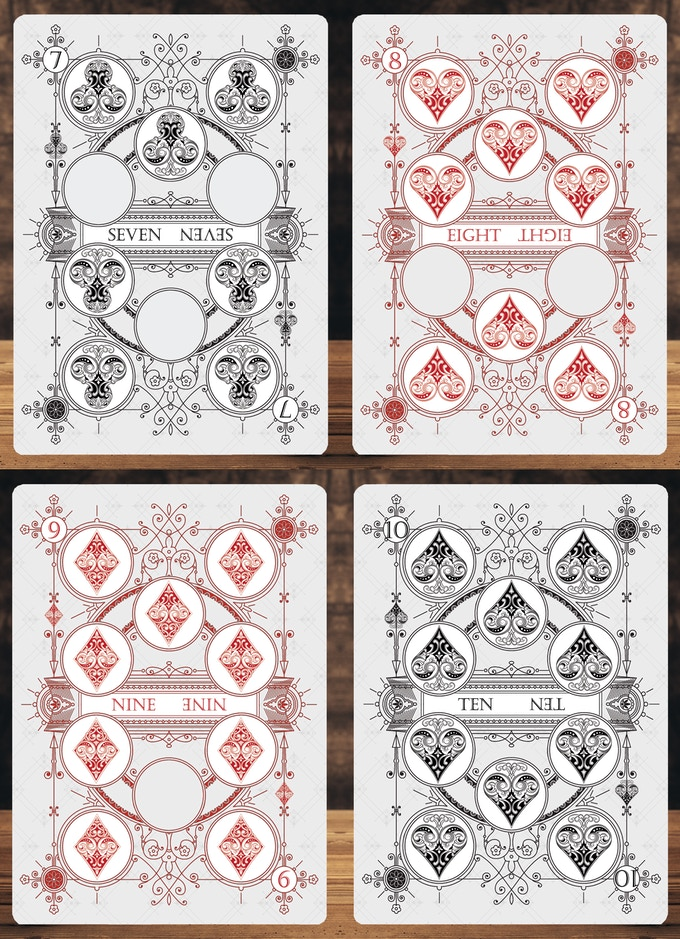 Card samples for the Private Reserve White Decks (These Decks are available in this Kickstarter).