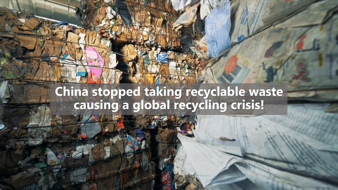 Most of our recyclable waste had just been shipped to China for decades, until China shut their doors on recyclable waste from around the world, causing a global recycling crisis.