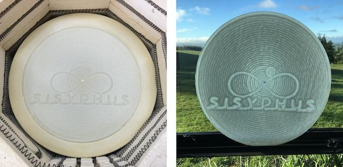 Permanent Sisyphus tracks - using fired glass powder