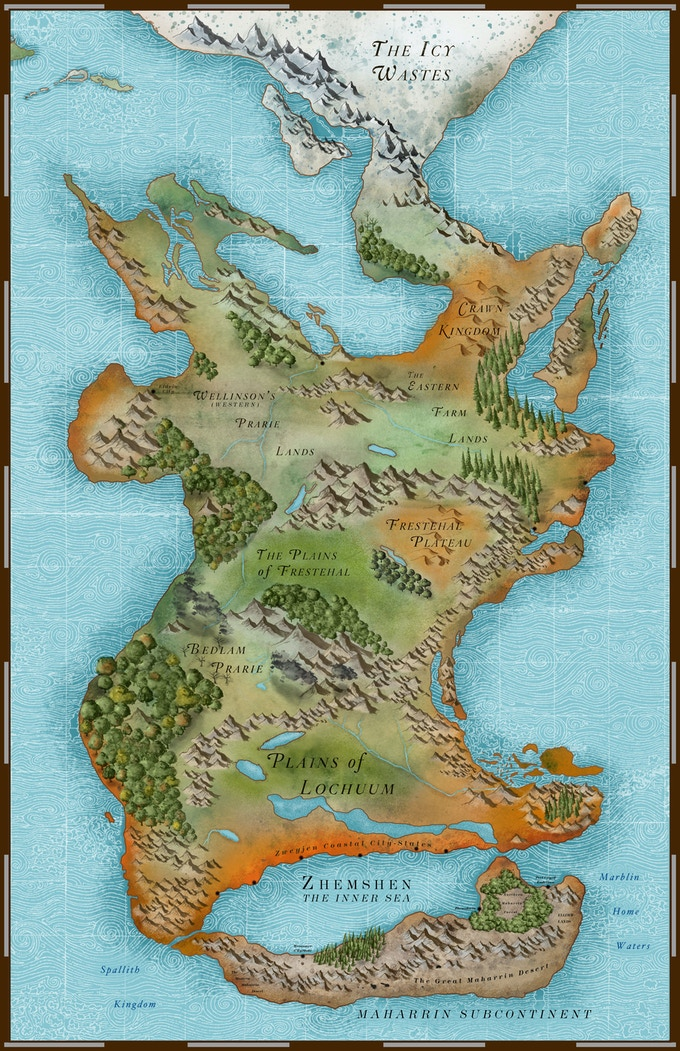 The Tamarran Continent, on the Fekxtah planet Ethem...the World of Beyonder