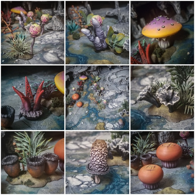 The Complete Fungal Forest, .08mm layer height, painted by me!