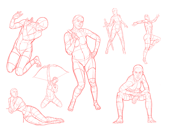 Volume 5 Example Poses - Based on photo references from SenshiStock