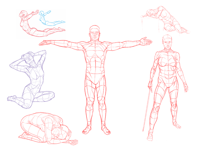 Volume 5 Example Poses - Based on photo references from PoseSpace.