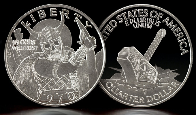 Solid Silver Hammer of the Gods - One Troy Ounce of solid .999 pure silver. Will be shipped to you with a numbered authenticity card and will be delivered in a lucite capsule enclosure.