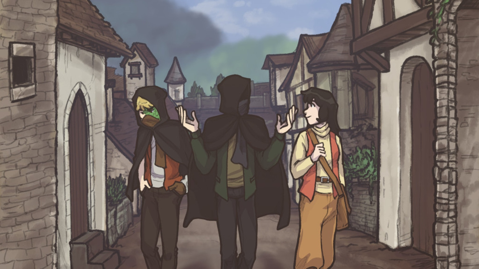 A medieval fantasy adventure graphic novel about magic and stealing stuff