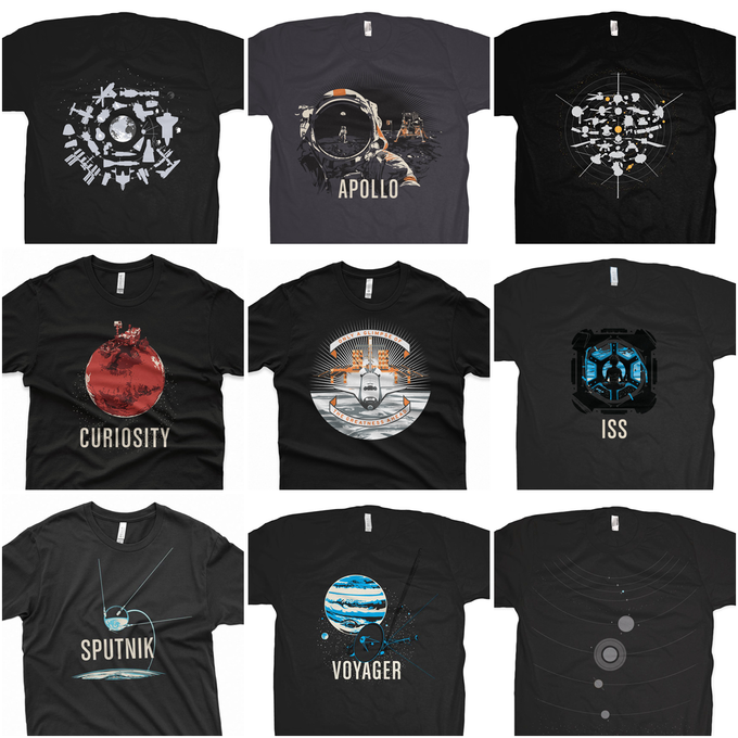 Space Exploration Themed Tees