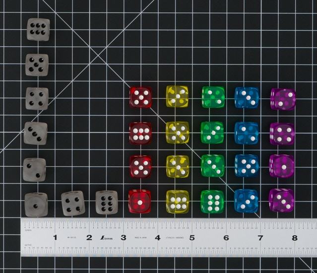 PPC Dice on Dark Background