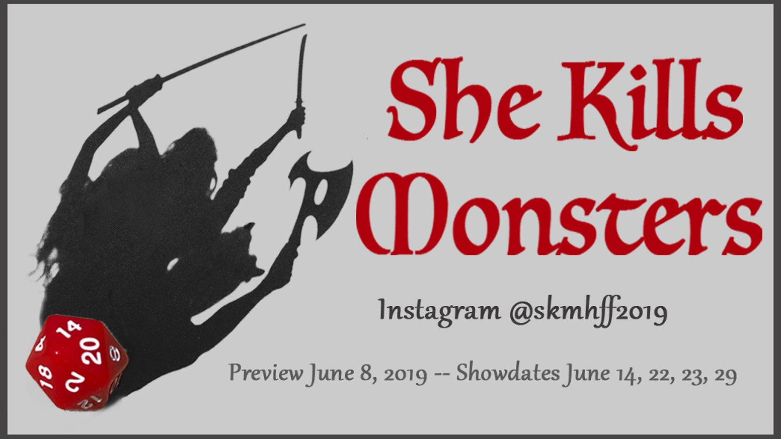 "We're bringing Dungeons and Dragons-themed ""She Kills Monsters"" by Qui Nguyen to the Hollywood Fringe Festival 2019"