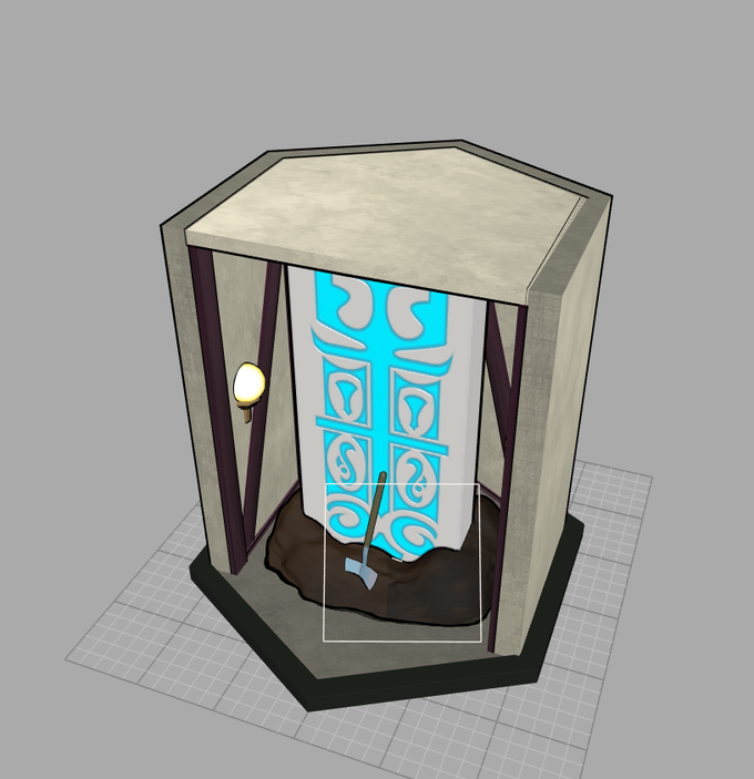 free portal column, dirt pile, and hallway for extra atmosphere