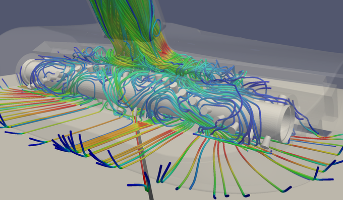 we also used computational fluid dynamics to optimise our design