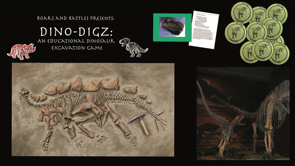 Dino-Digz: An educational dinosaur excavation board game project video thumbnail