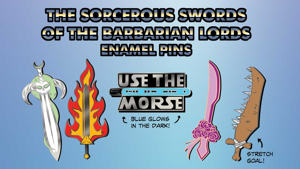 Project image for The Sorcerous Swords of the Barbarian Lords Hard Enamel Pins (Canceled)