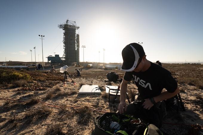 Ryan placing solar powered high-speed video cameras at Vandenberg Air Force Base