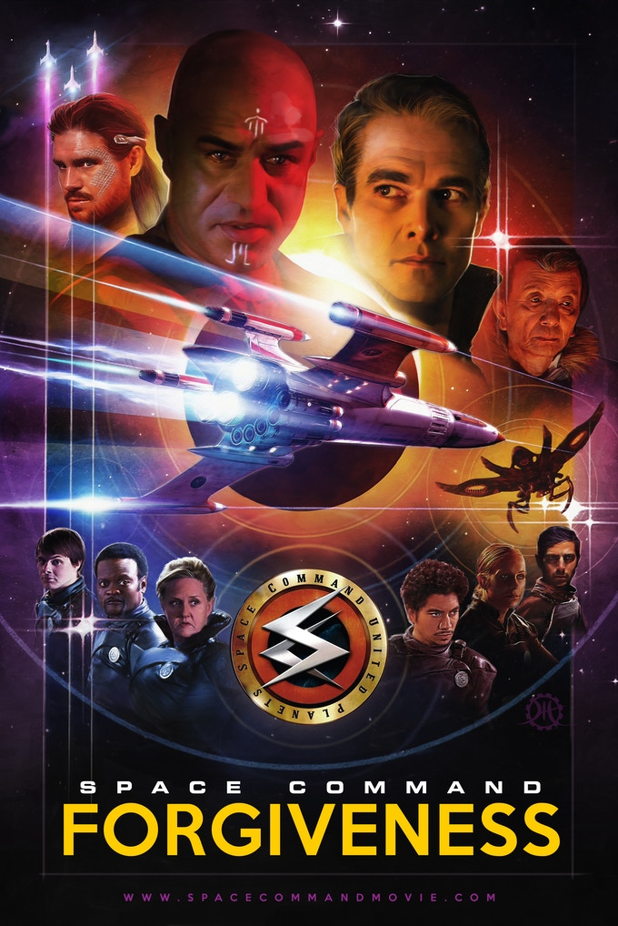 The official movie poster of Space Command Forgiveness.