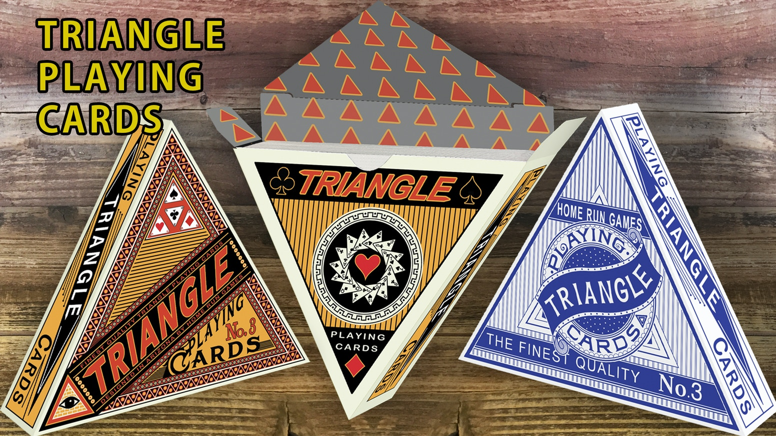 Triangle shaped playing cards