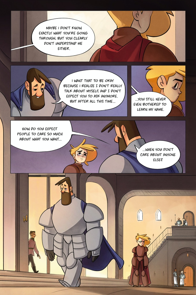 Knight & Beard Issue Five, pages 21 and 22