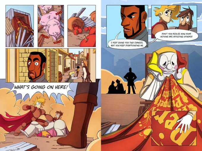 Knight and Beard Issue One, pages 10-13