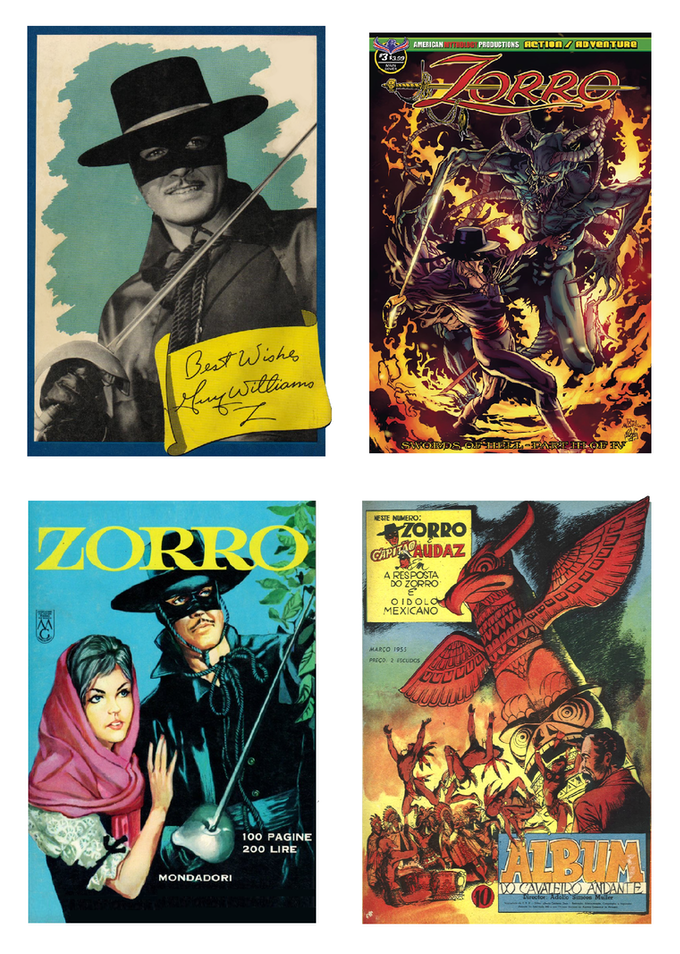The exclusive four card promotional set of Zorro Trading Cards! Only available through this Kickstarter!