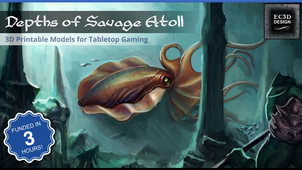 Depths of Savage Atoll - 3D Printable Tabletop Models project video thumbnail