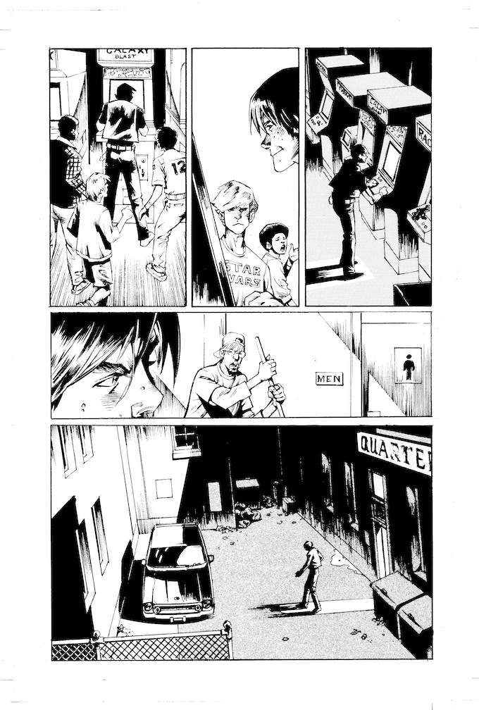 Graveyard Slaughter Issue 1 Sample Page Art by Javier Saltares
