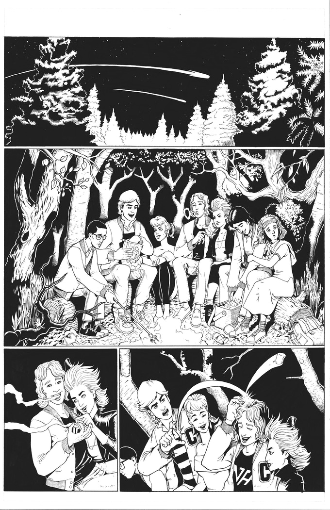 Graveyard Slaughter Issue 1 Sample Page Art by Gary Bedell