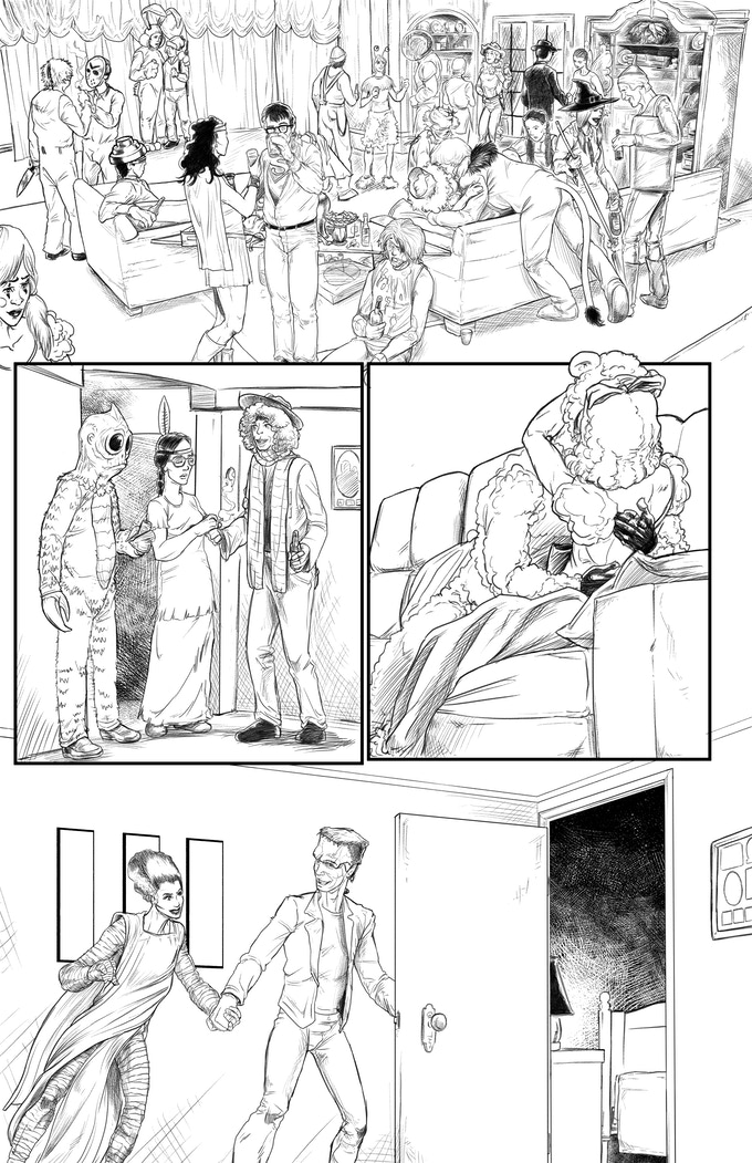 Graveyard Slaughter Issue 1 Sample Page Art by Blacky Shepherd