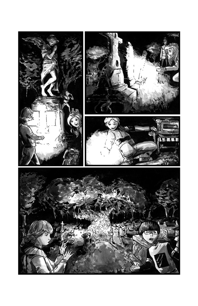 Graveyard Slaughter Issue 1 Sample Page Art by Adam McLaughlin