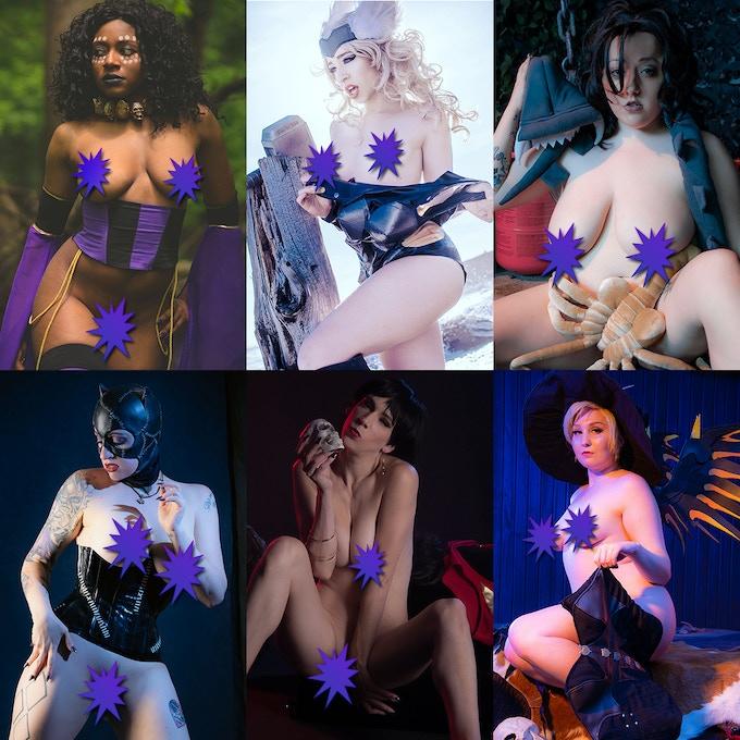 From Left to Right: Kali Neko, Lydia Vengeance, Peachy Keen, Jessica Nova, Alora Jaymes, Val Valkyrie