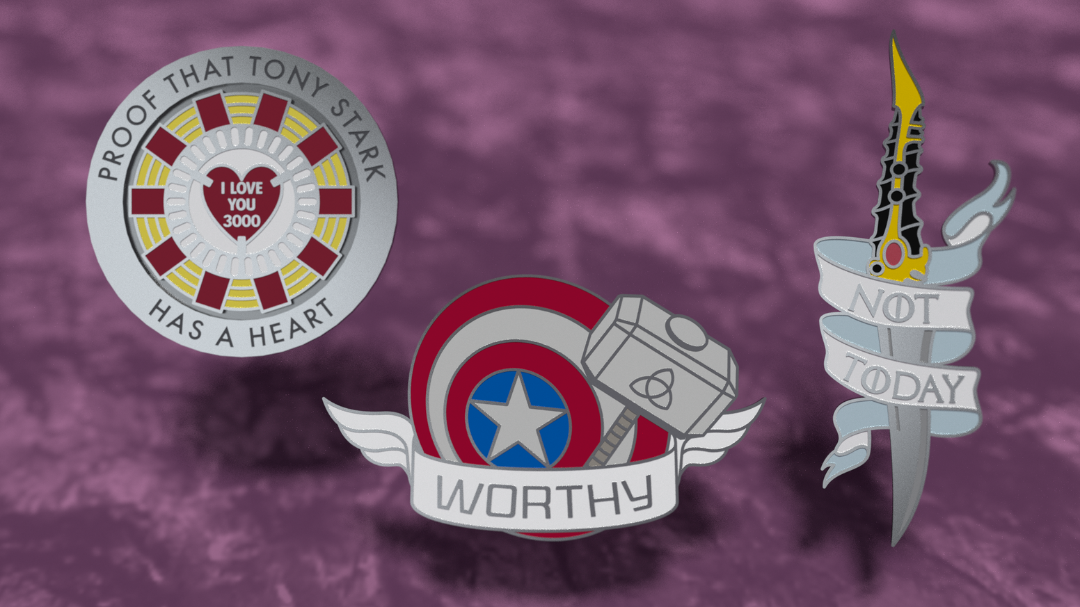 A set of pins representing some of the coolest moments of fandoms at their end.