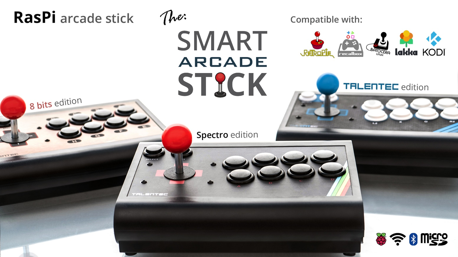 RasPi arcade stick | The customizable smart arcade stick by TALENTEC