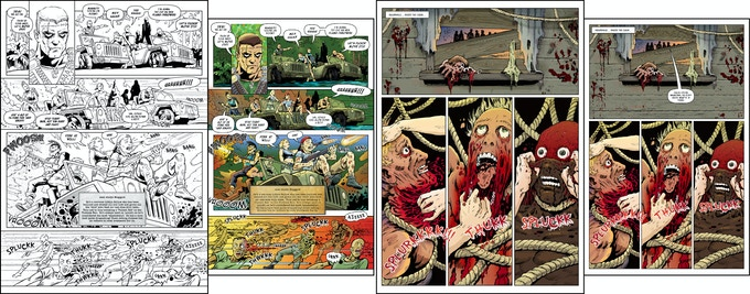 Resizing pages from DECAY #23 & #24 - for Black Label #2