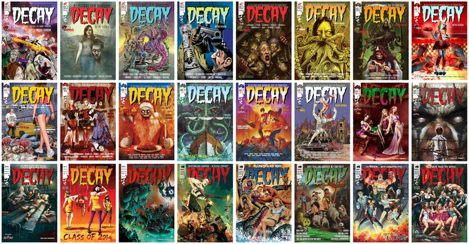 DECAY from DARK OZ - 24 issues - an amazing showcase!