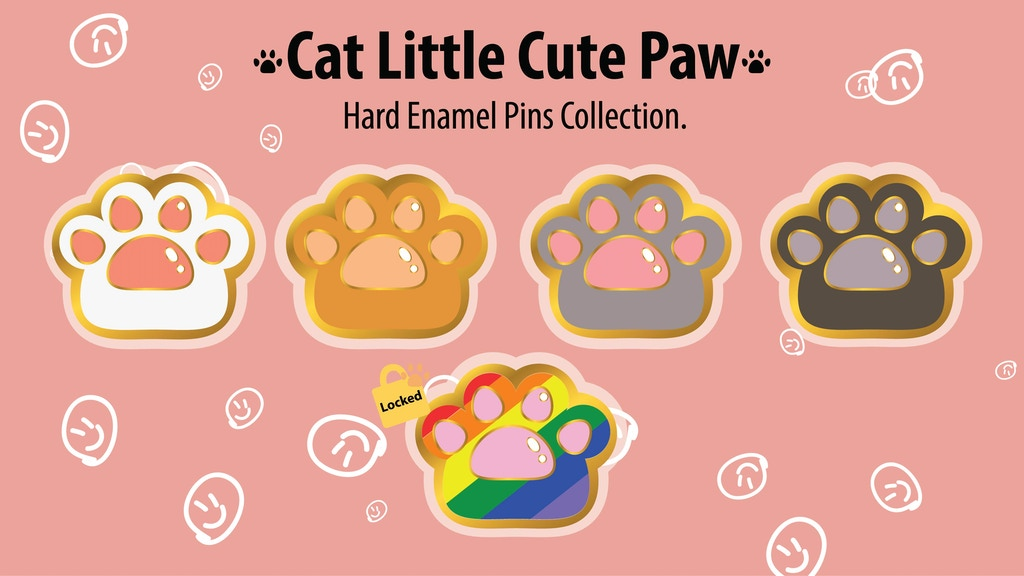 Project image for Cat Little Cute Paw Enamel Pins (Canceled)