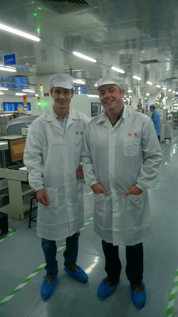 on the PCB production line at Ryder Industries