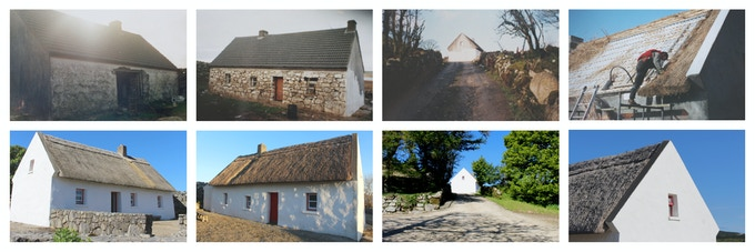 An Sean Teach, the 200 year-old cottage, before-and-after restoration.