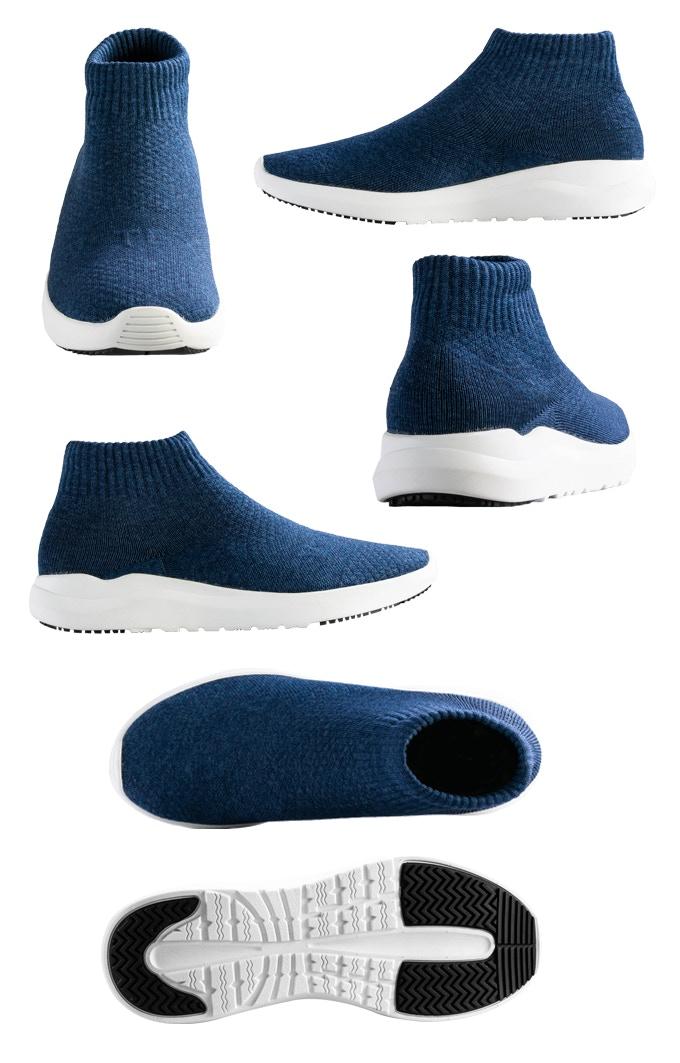 Ocean Blue has white tread