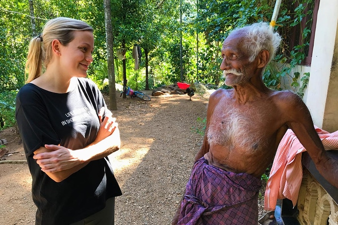 Meeting an organic certified farmer near Kumily