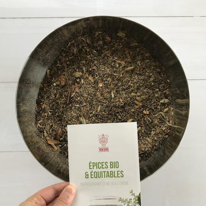 Our Yaksha masala chai (tea + spices)