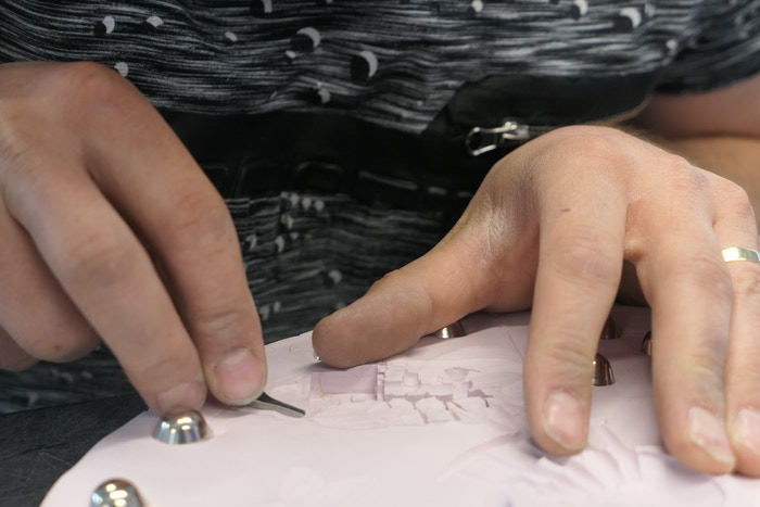 Master mould maker creates casting channels