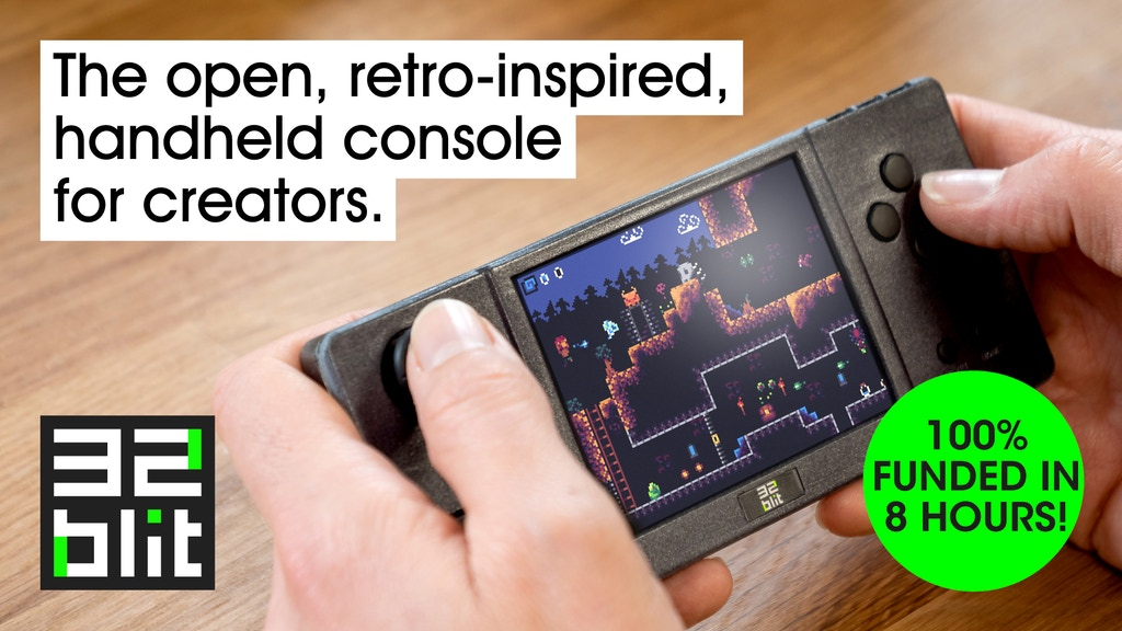 32blit: retro-inspired handheld with open-source firmware project video thumbnail