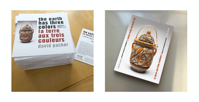 Postcard ($10) and the book, The Earth has Three Colors ($65)
