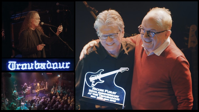 Timothy B. Schmit reading Cameron Crowe's introduction   /   Richie Furay with Peter Asher