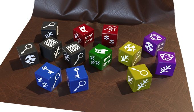 (note: This is not the final version of the dice. This is a render of what to expect. The icons used are finalized though)