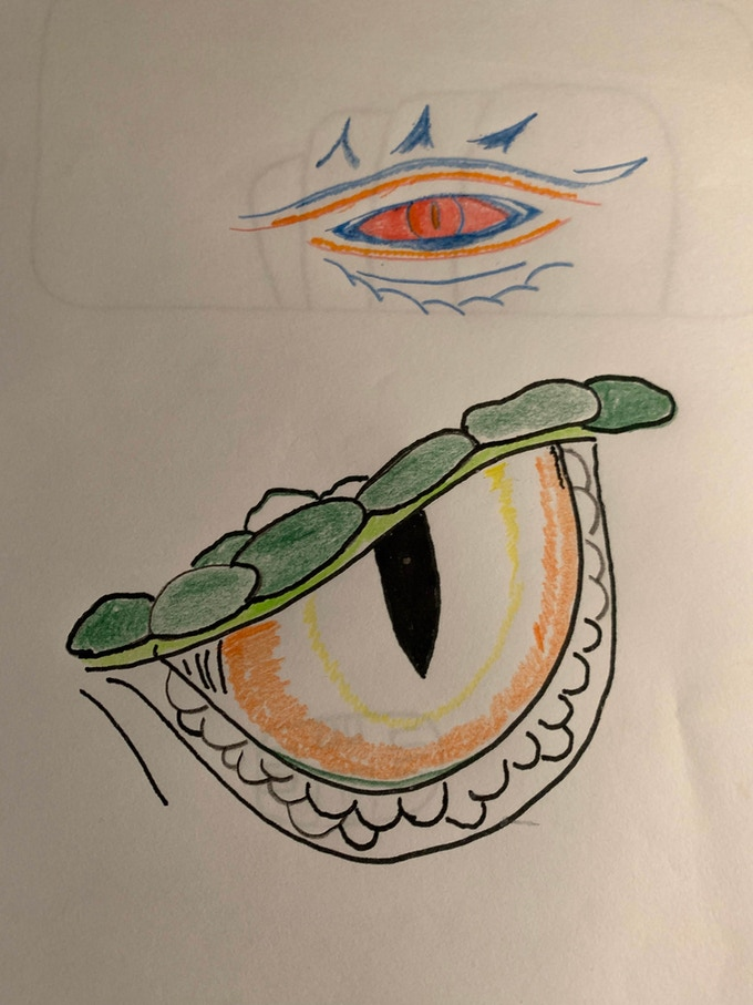 Sketches for Dragon Eye