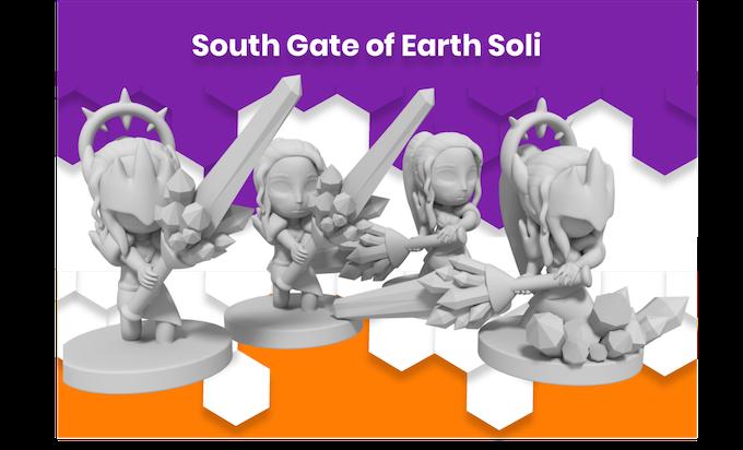 Anime Mini South Gate of Earth Soli