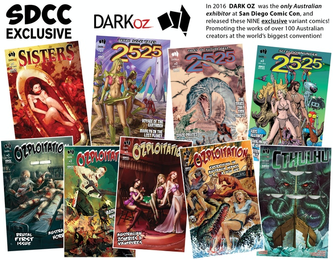 San Diego Comic Con 2016 DARK OZ exclusive editions