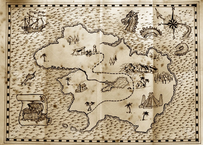 * Not representative of the actual map of the Twisty Little Passages world