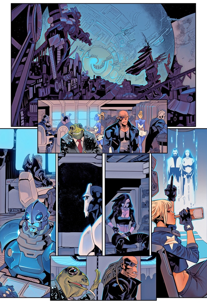 GALACTIC BOUNTY HUNTERS #2- Interior Page - Art by Celal Koc + Colors by John Rauch